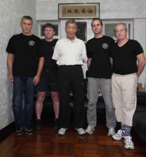 Maître Ip Chin chez lui à Hong Kong en Novembre 2012